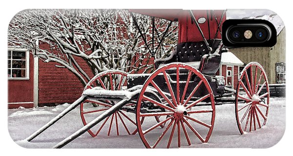 IPhone Case featuring the photograph Red Buggy At Olmsted Falls - 1 by Mark Madere