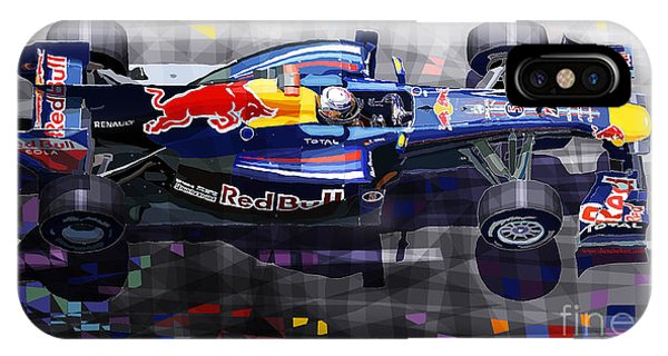 Car iPhone X Case - Red Bull Rb6 Vettel 2010 by Yuriy Shevchuk