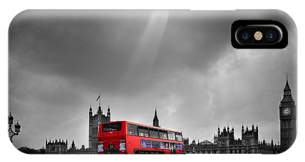 Bell iPhone Case - Red Bus by Svetlana Sewell