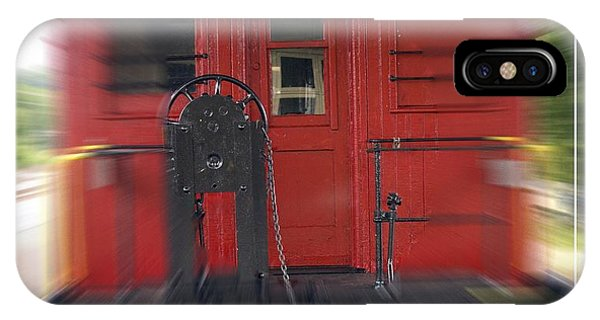 Red Caboose iPhone Case - Red Caboose by Edward Fielding