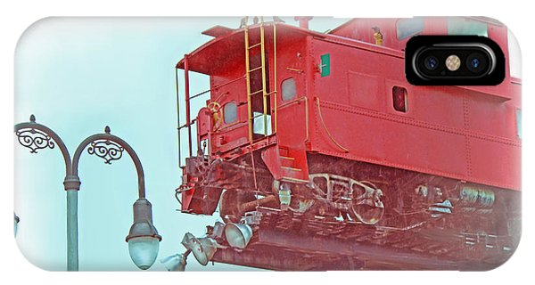 Red Caboose In The Sky2 IPhone Case