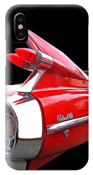 Red Cadillac Sedan De Ville 1959 Tail Fins IPhone Case