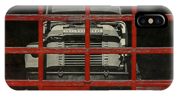 Trucking iPhone Case - Red Cage by Jeff  Gettis