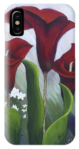 Red Calla Lilies IPhone Case
