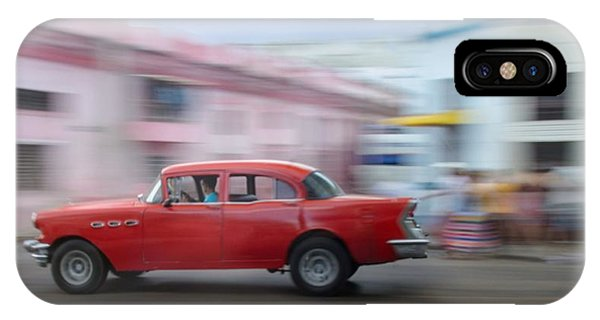 Red Car Havana Cuba IPhone Case
