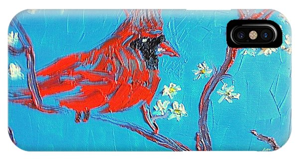 Red Cardinal Spring IPhone Case