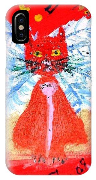 Red Cat I IPhone Case