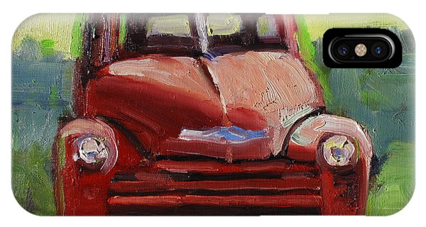 Red Chevy Phone Case by Susan McCullough
