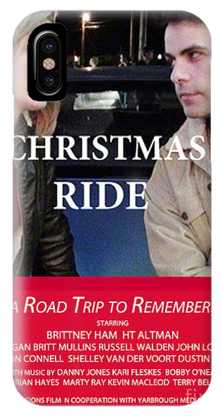 Christmas Ride Karen Francis iPhone Case - Red Christmas Ride Poster by Karen Francis