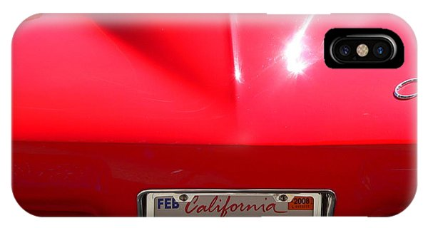 IPhone Case featuring the photograph Red Classic Corvette Jail Bait by Jeff Lowe
