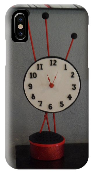 Red Clock IPhone Case