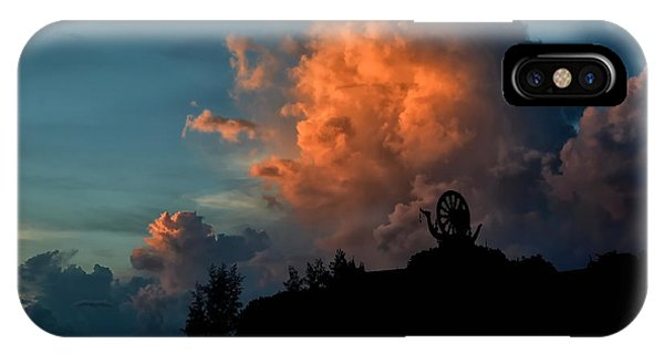 Red Clouds IPhone Case