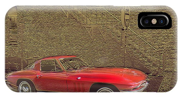 Red Corvette IPhone Case