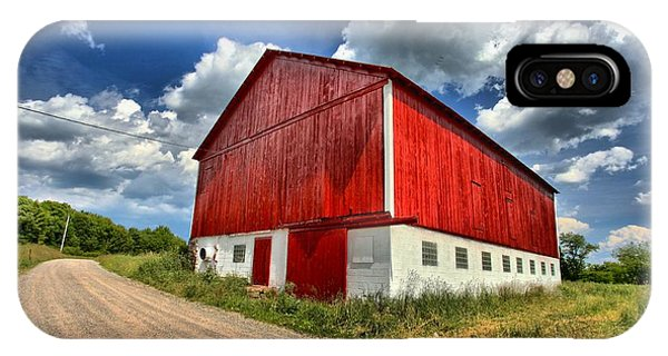 Somerset County iPhone Case - Red Country Barn by Adam Jewell
