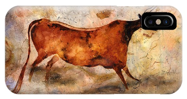 Art Cow iPhone Case - Red Cow by Hailey E Herrera