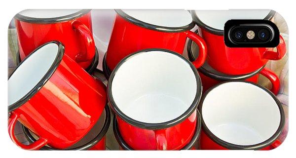Caravan iPhone Case - Red Cups by Tom Gowanlock