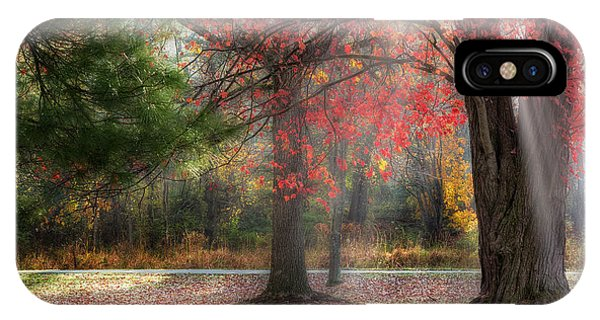 Bucolic iPhone Case - Red Dawn by Bill Wakeley