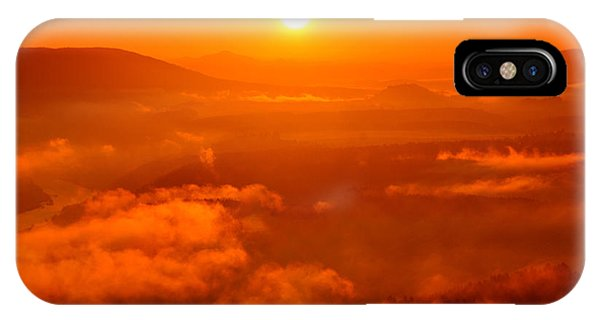 Red Dawn On The Lilienstein IPhone Case