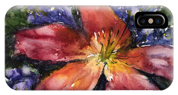 Red Daylily IPhone Case