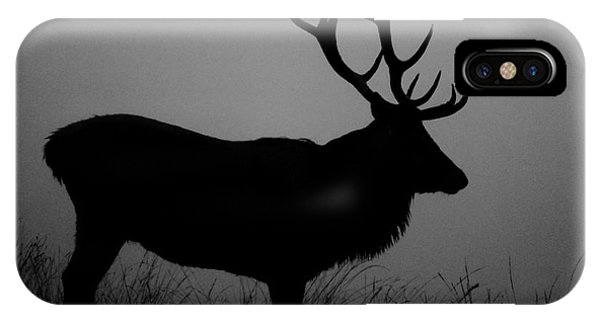 Wildlife Red Deer Stag Silhouette IPhone Case