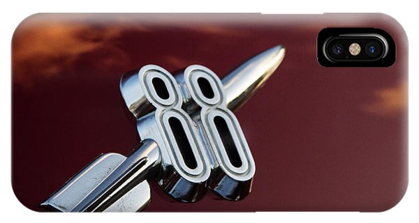 Corvair iPhone Case - Red Delta 88 Rocket by Guy Shultz