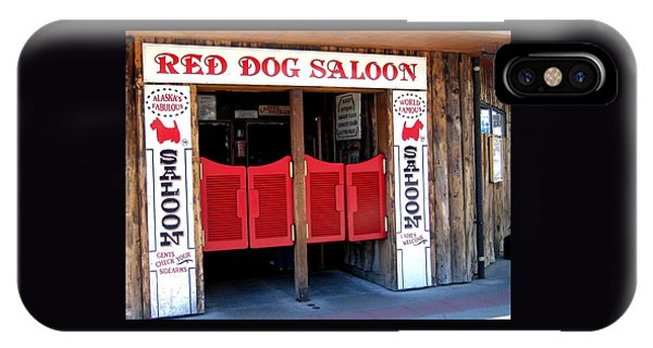 Red Dog Saloon Juneau IPhone Case
