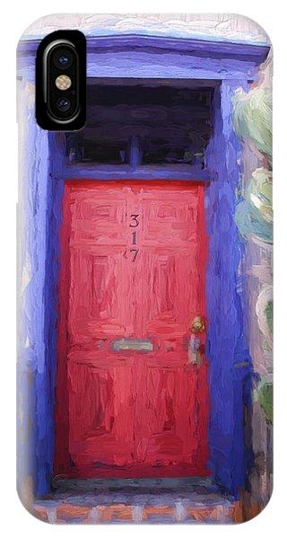 Red Door 317 Tucson Barrio Painterly Effect IPhone Case