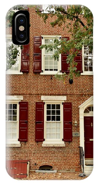 Red Door And Shutters IPhone Case