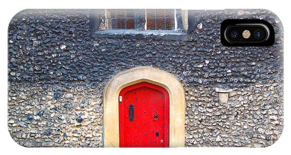 Red Door In Winchester Uk IPhone Case