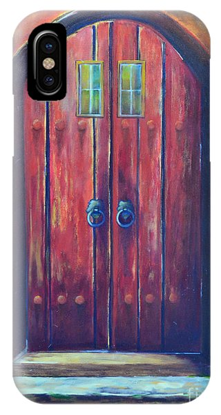 Gateway Arch iPhone Case - Red Door by Patricia Caldwell