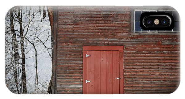 New England Barn iPhone Case - Red Door Red Barn by Edward Fielding