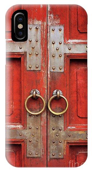 Red Doors 01 IPhone Case