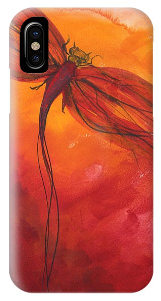 Red Dragonfly 2 IPhone Case