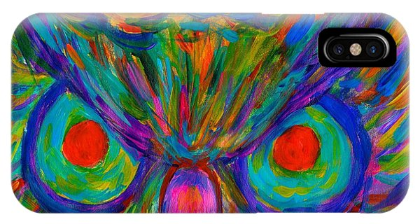 iPhone Case - Red Eyed Hoot by Kendall Kessler