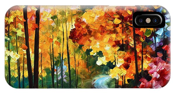 iPhone Case - Red Fall by Leonid Afremov