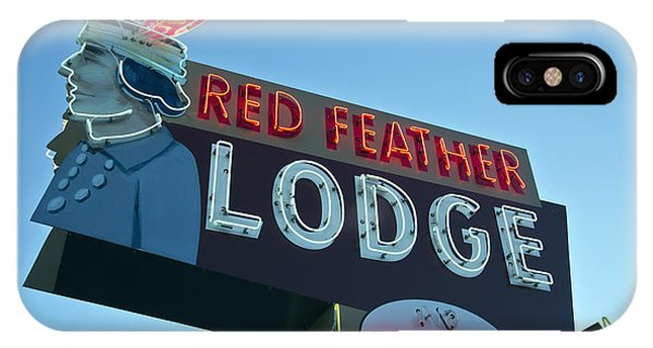 Red Feather Lodge IPhone Case