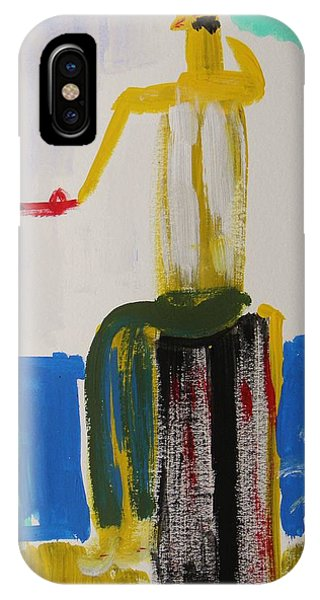 Red Fishing Pole Phone Case by Mary Carol Williams