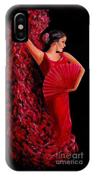 Red Flamenco Dancer IPhone Case