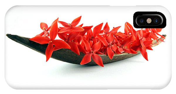 Red Flower Boat IPhone Case