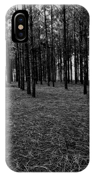 Red Forest In Black And White IPhone Case