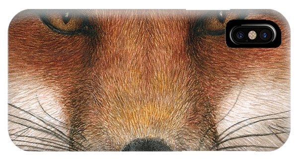 Red Fox Gaze IPhone Case