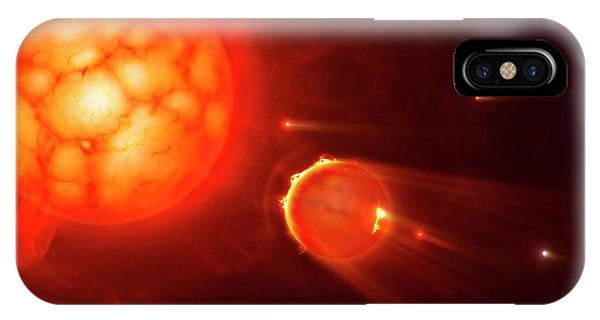 Red Giant Destroying Planets IPhone Case