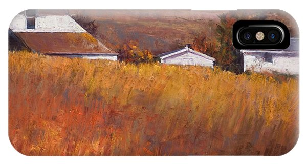 Red Grass Phone Case by Beverly Amundson