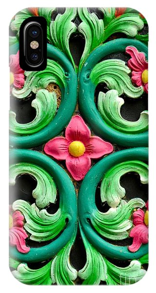 Red Green And Blue Floral Design Singapore IPhone Case