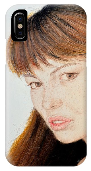 Red Hair And Freckles Iv Phone Case by Jim Fitzpatrick