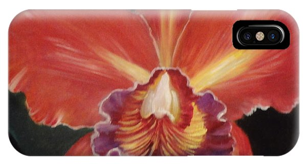 Red Hawaiian Orchid IPhone Case