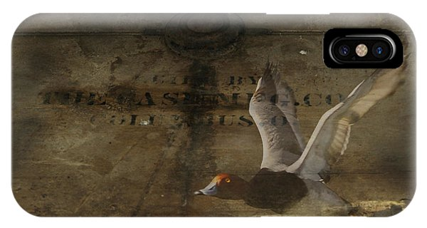 Red Head Duck Old Box IPhone Case