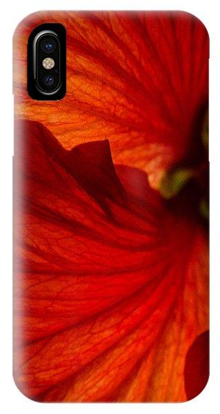 Red Hibiscus 6 IPhone Case