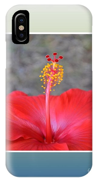 Red Hibiscus-v3 IPhone Case