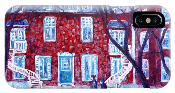 Red House In Montreal - Cityscape IPhone Case